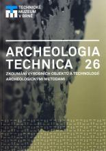 Archeologia technica 26 - titulní strana