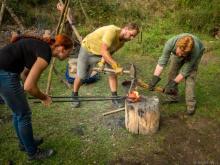 Nasekávání železné lupy