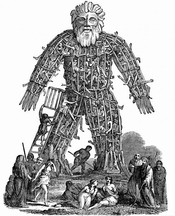 Muž z proutí - wicked man - oblíbená to kratochvíle keltského kléru. Řečeno s M. D. R., sežeň tři vozy proutí a vraž do toho kopu volů (nebo slepic - jste li na dietě)