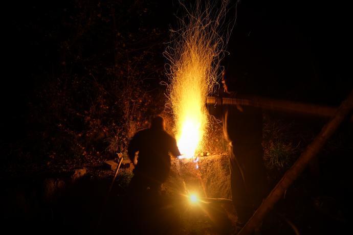 Noční tavba železa