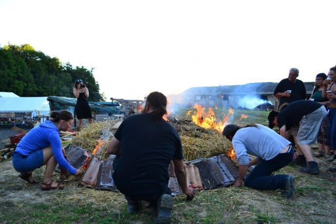 Zapálení keramického milíře